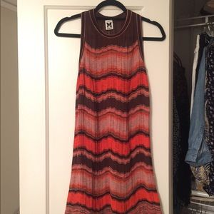 MISSONI Racerback Orange Knit Dress 40/S